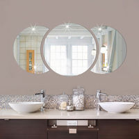 Fashion Mirror Tile Wall Stickers 3D Decal Mosaic Stick On Modern Art Room Decor Wholesale