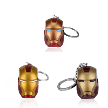 Marvel movie Iron man keychain 3D head superhero iron