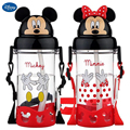 500ml creative leakproof straw type 3D cute mickey cartoon kids prevent choking drinking water bottles girl space cup baby cup