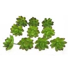 200 шт. искусственное суккулентное растение эчеверия зеленый принц пустыня Роза пластиковые цветочные украшения зелени