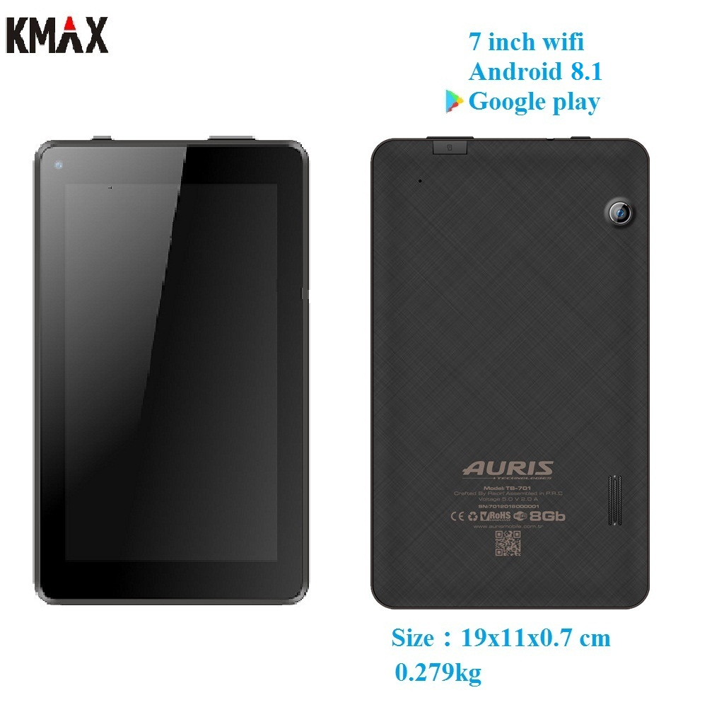 KMAX 7 inch wifi android 8.1 tablet pc Quad core IPS TF Card keyboard case mini pad gps bluetooth 8 9 10 10.1 googlepay kids