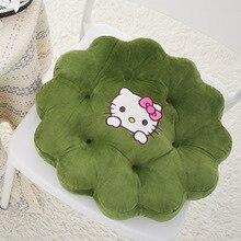 home decor army green hello kitty seat cushions cartoon creative flowers round chair cushion sofa throw