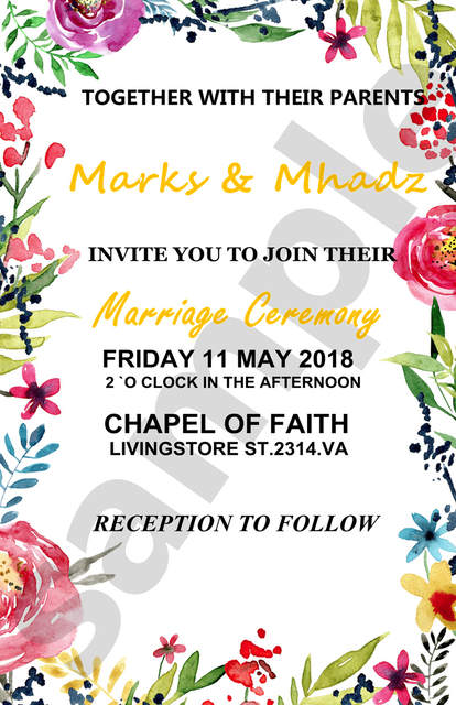 Us 19 99 Customized Personalized Floral Wedding Invitation Template Printable Wedding Invites Set Wedding Invitations Card Editable Text In Cards