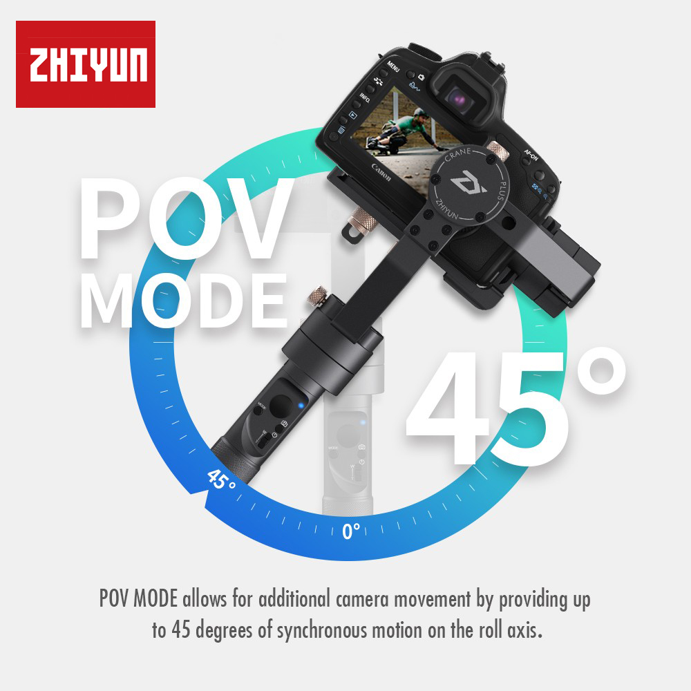 Zhiyun Crane Plus 3 Axis 3 Axis Handheld Gimbal Stabilizer for All Models of DSLR Mirrorless Canon 5D2 5D3 5D4 MINI DSLR Camera in Handheld Gimbal from Consumer Electronics