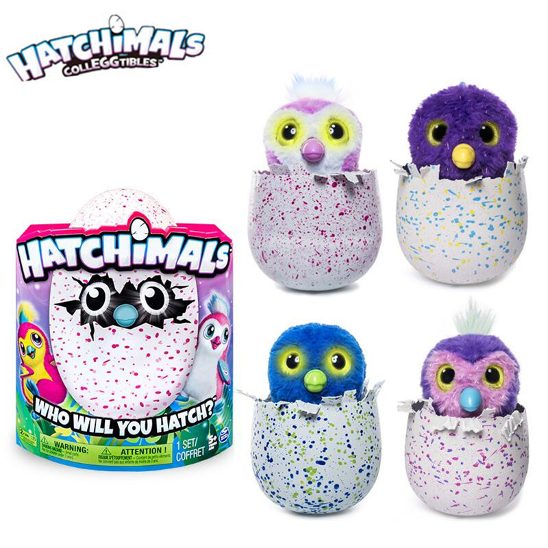 Hatchimals Magic Egg Intelligent Glittering Pet Egg Puzzle Electric Incubator Child Interactive Toy free shipping