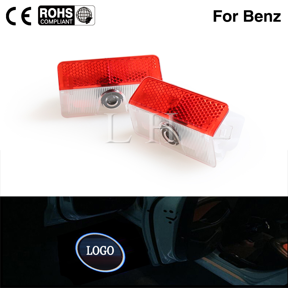 2PCS Car Door Welcome Light For Mercedes GLK A B Class X204 W169 W168 W245 Accessories Benz LED Courtesy Lamp Projector Shadow