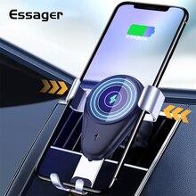 Беспроводное зарядное устройство Essager 10 Вт Qi для iPhone X 8, быстрая зарядка, автомобильный держатель для телефона samsung Galaxy Note9 s9 s8 Plus