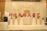 2017 waterfall wedding backdrops,wedding stage drape decoration mariage,pure white wedding backdrop white curtain for wedding