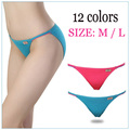 2017 Hot Sexy Women's Underwear Panties T-back Modal Super Low Rise Thong Lingerie Lady Waist Women's Briefs 12color Size M / L