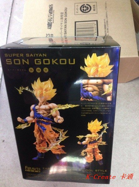 ФОТО Free shipping 1pcs Dragon ball Goku pvc figure toys tall 18cm.1pcs Goku pvc doll packed in color box for you as gift.