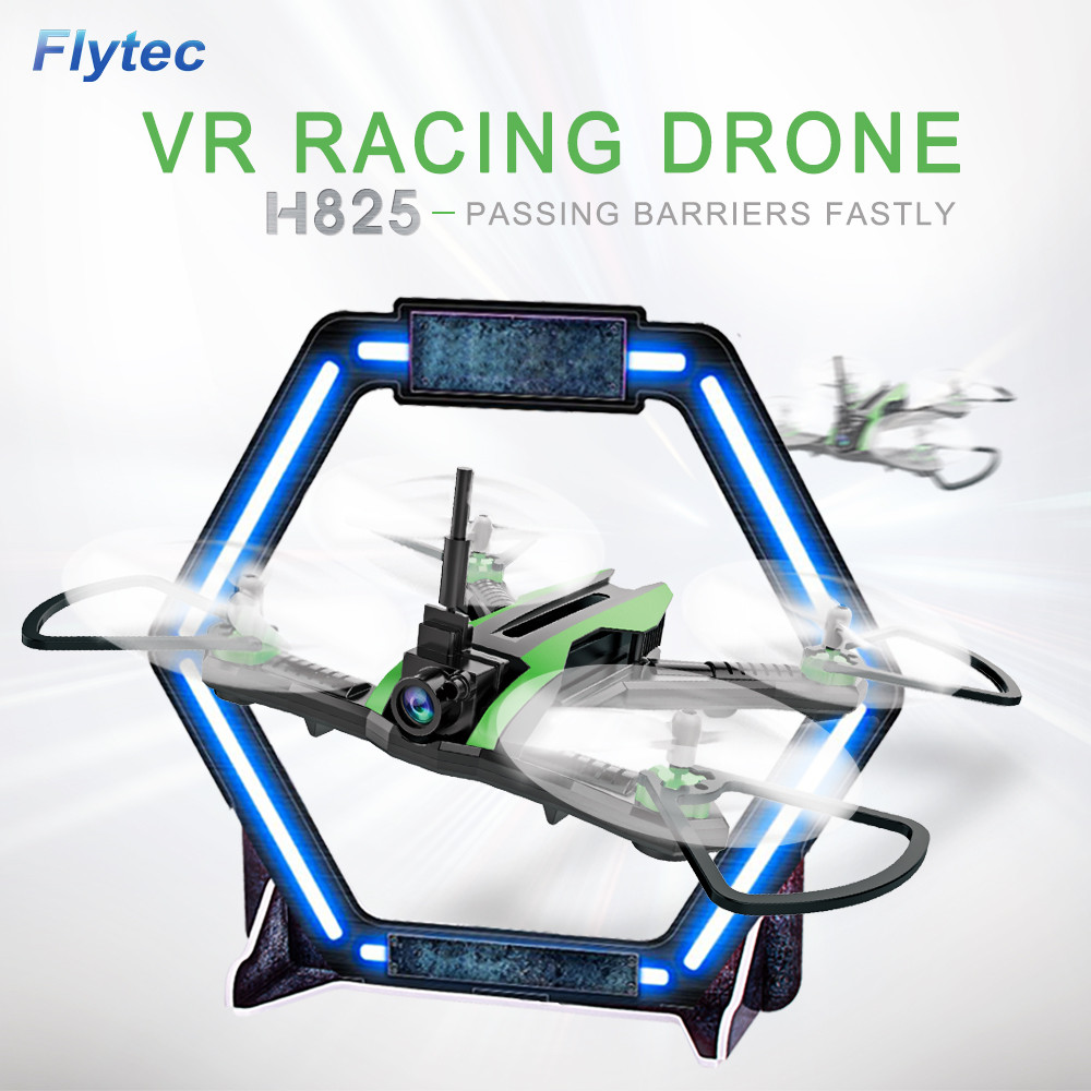 Flytec H825 5.8G FPV With Wide Angle 0.3MP Camera Racing Foam Set Drone RC Quadcopter RTF Multi-function summer playmate MAY 01