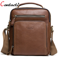 CONTACT'S Crossbody Bags For Men Shoulder Bag Male Men's Genuine Leather Bags Men Messenger Luxury Men Bags Designer