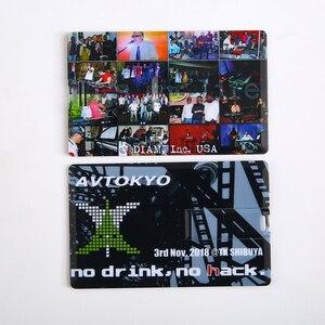 Image 5 - Diy criativo usb 2.0 flash cartão de crédito 16 gb 32 gb usb pen drive pen drive 4 gb 8 gb imprimir sua foto ou logotipo personalizado da empresa presente