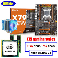 HUANAN Deluxe X79 Gaming Motherboard Xeon E5 2660 V2 10 Cores 20 Threads RAM 16G 2