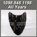 Motorcycle Windshield/Windscreen - Black For Ducati 1098 848 1198 2007 2013 All Year 00 01