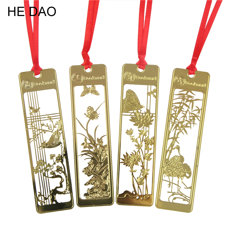 New Cute Kawaii Beautiful Chinese Style Vintage Exquisite Metal Bookmark For Book Creative Item Gift Package