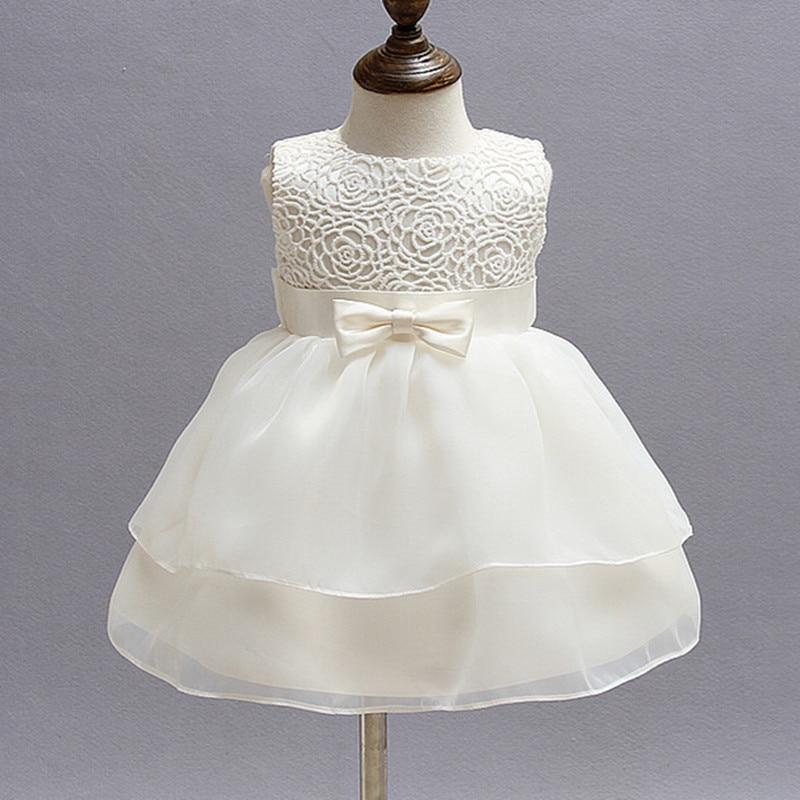 1 éves baba lány ruha bézs hercegnő esküvői születésnapi formális Vestido 2019 kisgyermek baba ruhák Keresztelő ruhák ABF164704