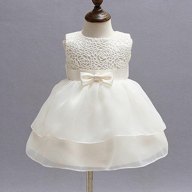 Turnschuhe Kauf authentisch kommt an 1 jahr Alten Baby Mädchen Kleid Beige Prinzessin Hochzeit Geburtstag  Formale Vestido 2019 Kleinkind Kleidung Taufe Kleider ABF164704