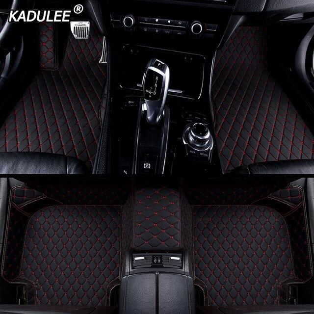 KADULEE Custom car floor Foot mat For pajero sport 4 grandis lancer outlander xl 2017 2013 auto accessories waterproof carpet