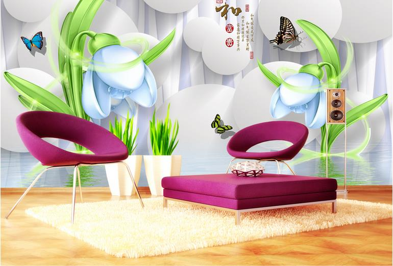 Living Room 3d Wallpaper Customize Home and wealthy Soundproofing 3d Photo Wallpaper Mural Flowers Wall papers Home Decor brian h breuel staying wealthy