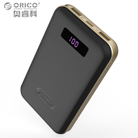 ORICO 12500mAh Type-c Power Bank LCD External Battery Portable Mobile Fast Charger Dual USB Powerbank for iPhone Android Devices