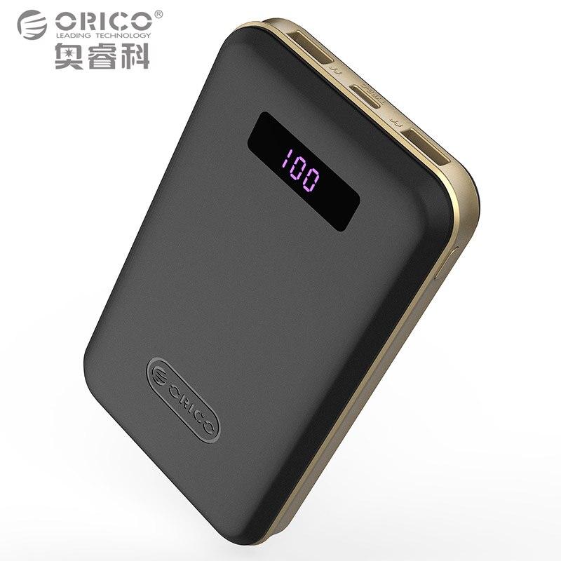 imágenes para Tipo-c de ORICO 12500 mAh LCD Banco de Potencia Powerbank Móvil Cargador Rápido Dual USB cargador Portátil de Batería Externa para el iphone Dispositivos Android