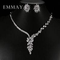 New Unique Design Choker Necklace Stud Earrings Bridal Jewelry Sets Wedding Accessories Dropship