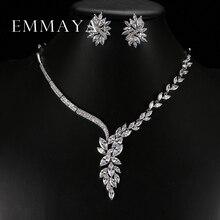 Набор свадебных украшений Emmaya, колье чокер уникального дизайна, серьги гвоздики, свадебные аксессуары