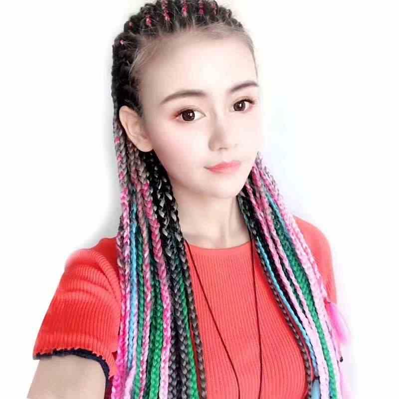 595a84b485b 1Pc Fashion Women Wig Hairpins Headwear Colorful Wig HairClip Punk Hot Sale  Hairpin Girl Long Braid