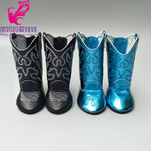7.5cm doll boots for 43cm new born baby Doll Shoes fit For 18 inch Doll boots toys shoes(China)
