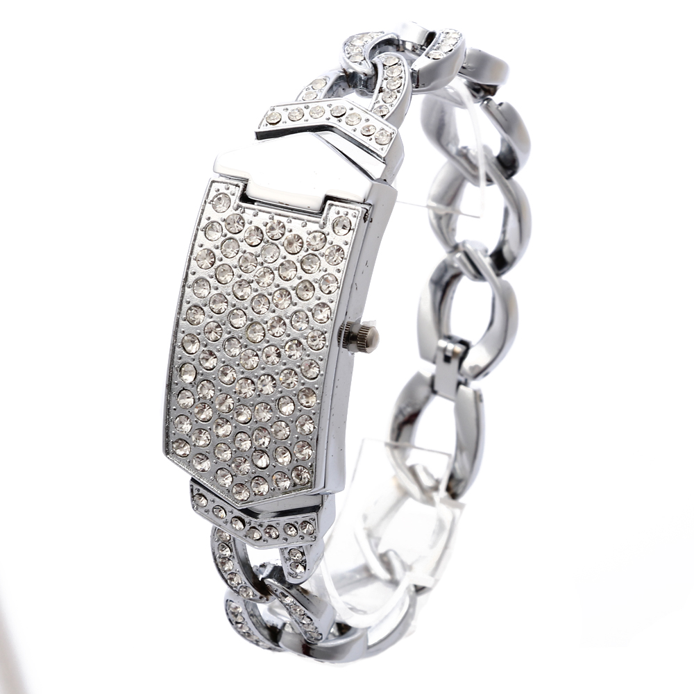 G & D 여성 시계 럭셔리 숙녀 시계 실버 스테인레스 스틸 밴드 조가비 라인 석 패션 여성 석 영 손목 시계 시계