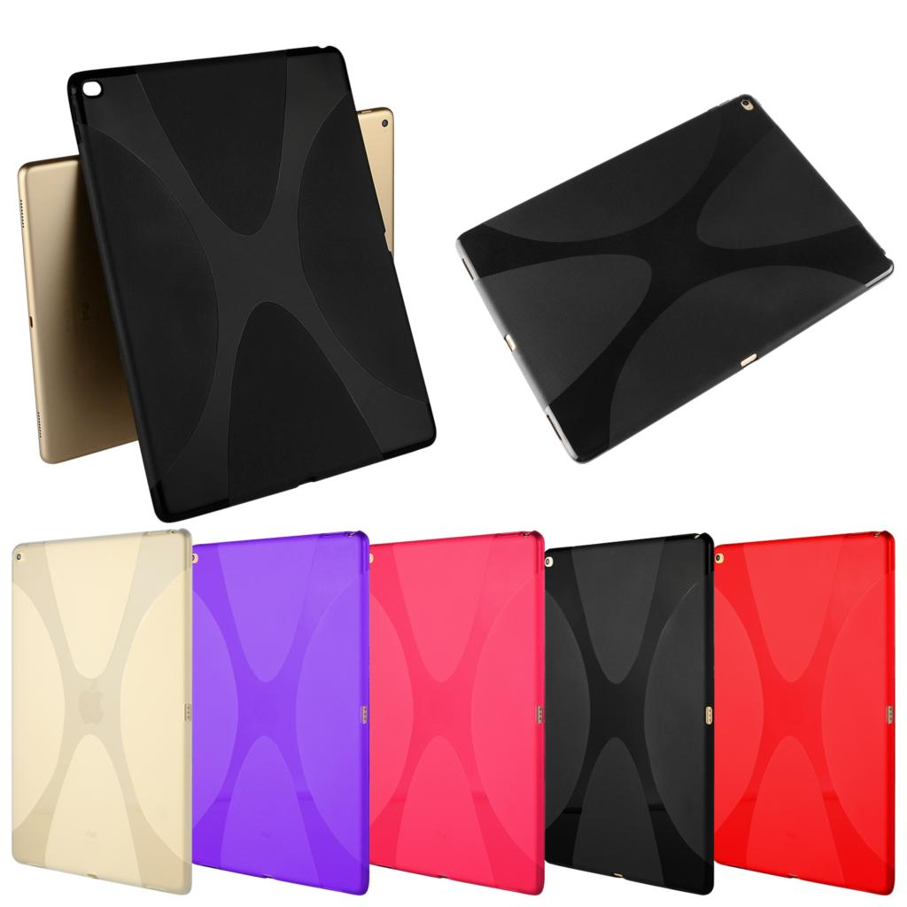 Tablet Case Luxury Soft Slicone TPU Gel Skin Ultra Slim Thin Back Skin Shell Protective Smart Cover For Apple Ipad Pro 12.9
