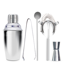 350ML 550ML 750ML Stainless Steel Cocktail Shaker Mixer Wine Martini For Drinking Boston Style Party Bar Tools