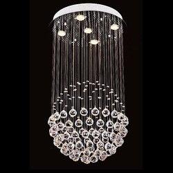 GU10 led kryształ lampa salon sypialnia lampy restauracja lampa schody żyrandol światła piłka ciągnienia drutu wiszące