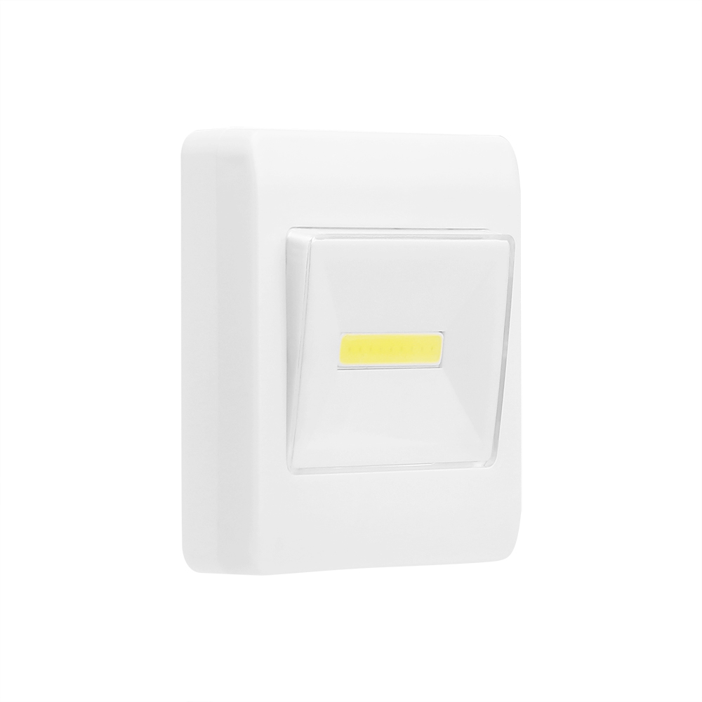 Ultra Bright COB LED Wall Light Switch Night Light Lamp Cordless Battery Operate