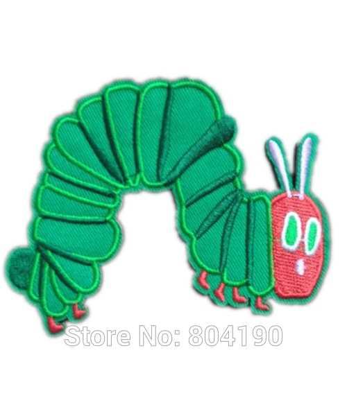 Очень голодна гусеница милые дети Железный На/нашивка на одежду футболка ПЕРЕДАЧА МОТИВ аппликация бейдж Рождественский подарок