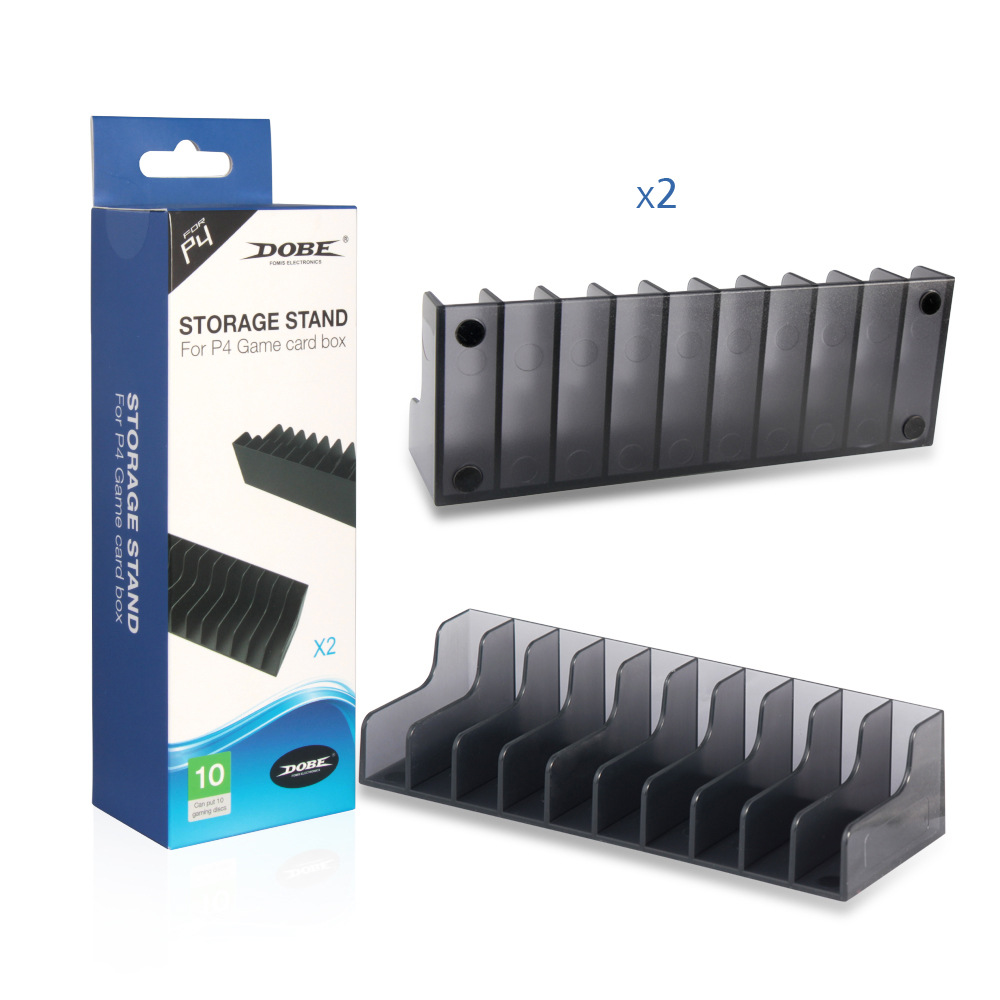 For Sony Playstation 4 PS4 PS 4 Game Card Box Storage Stand Holder For 20pcs CD Disks Or Card Holders Support 2pcs/lot