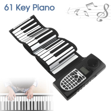 61 Keys USB MIDI Output Roll Up Piano Electronic Portable Silicone Flexible Keyboard Organ Built-in Speakers