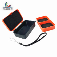 1Pcs Multifunctional Box of Fishing Bins 10 * 6 * 3.5cm Plastic Earthworm Worm Bait Attraction Fly Fishing Tent Face Accessories