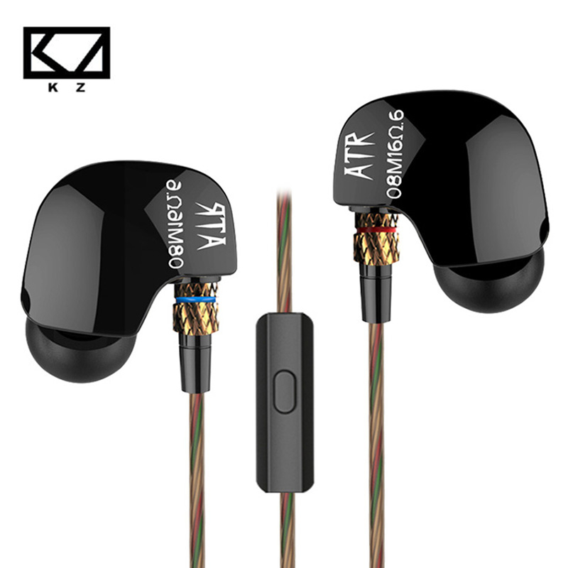 100% más reciente kz atr 3.5mm dinámico en la oreja los auriculares estéreo de a