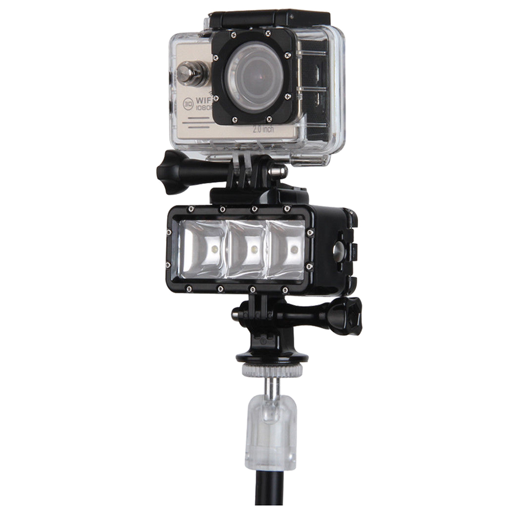 5 Packs 30M Waterproof LED Driving lamp video light for GoPro Hero 4 3+ 3 Sports Camera Black pannovo waterproof pu leather extra thick anti shock eva case for gopro hero 4 3 3 2 sj4000