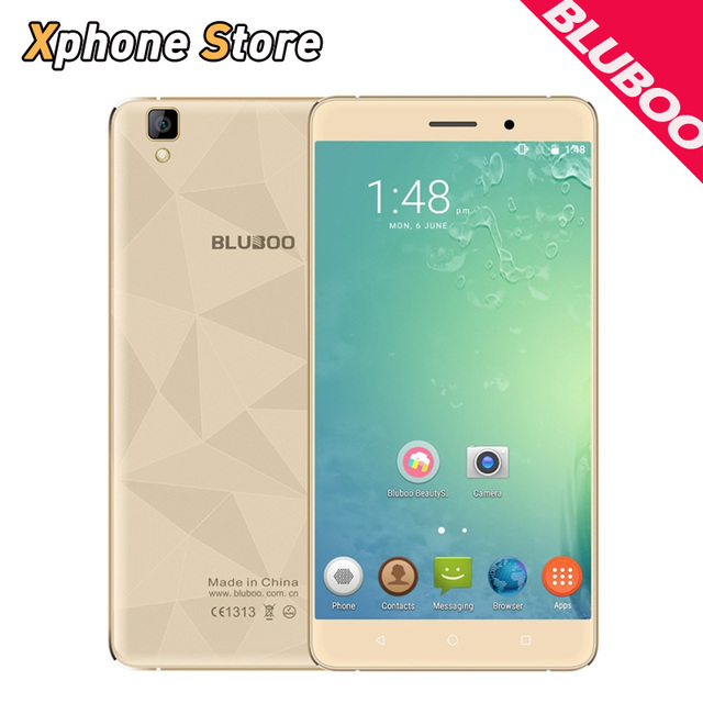 Original BLUBOO Maya 5.5 inch Android 6.0 16GB ROM 2GB RAM MTK6580A Quad Core 1.3GHz 13.0MP Dual SIM 3000mAh 3G WCDMA Cellphone