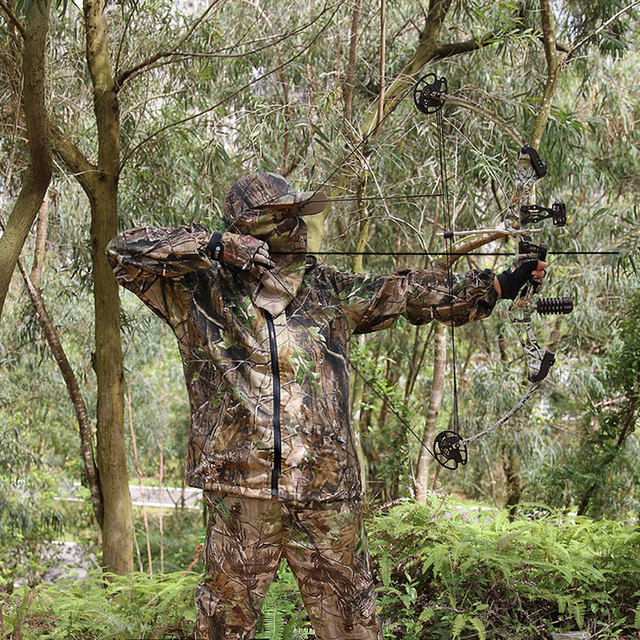 Bionic Camouflage Clothes Tactical Sniper Ghillie Suits Cotton Camo Hunting Clothing Anti-Mosquito Spring Autumn Fishing 4