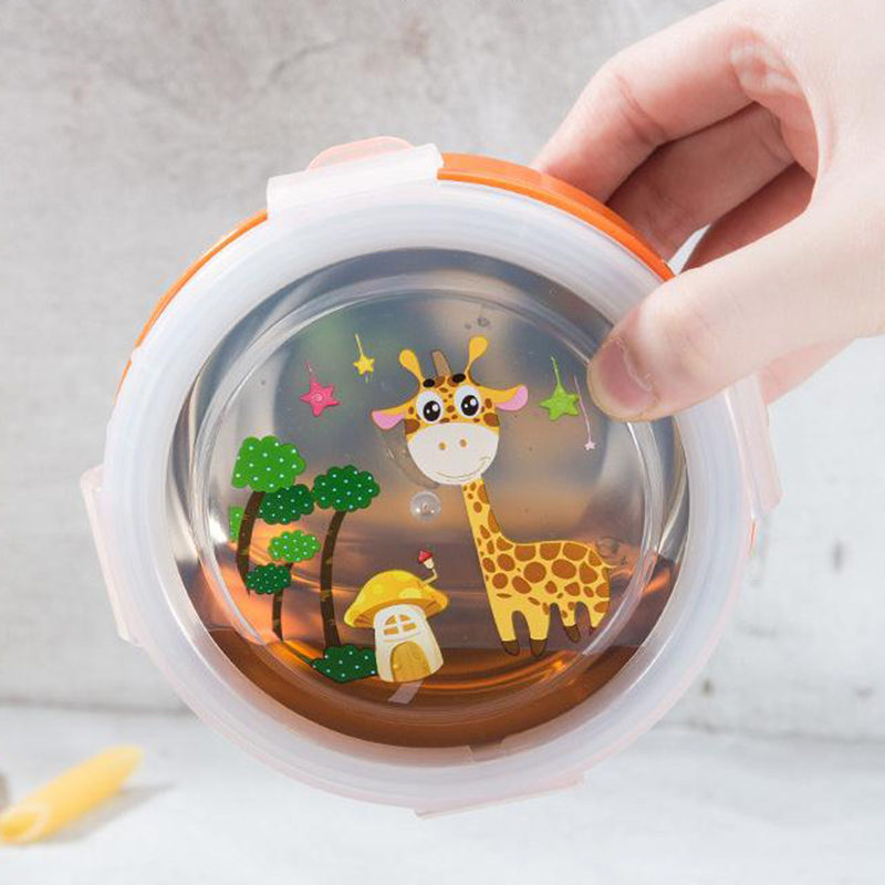 MICCK Cartoon Leakproof Lunch Box For Kids Stainless Steel Bento Box  BPA Free Thermal Insulation Food Container Cute Crisper|Lunch Boxes| |  - title=