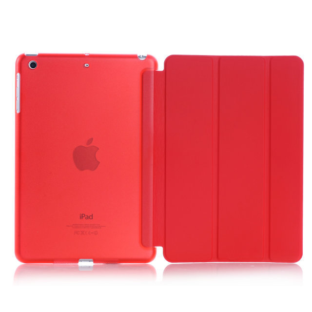 Slim Lightweight Smart Shell Stand Cover for iPad Mini 3 2 1 Case Translucent Back Protector Case for iPad mini3 Auto Wake Sleep in Tablets e Books Case from Computer Office