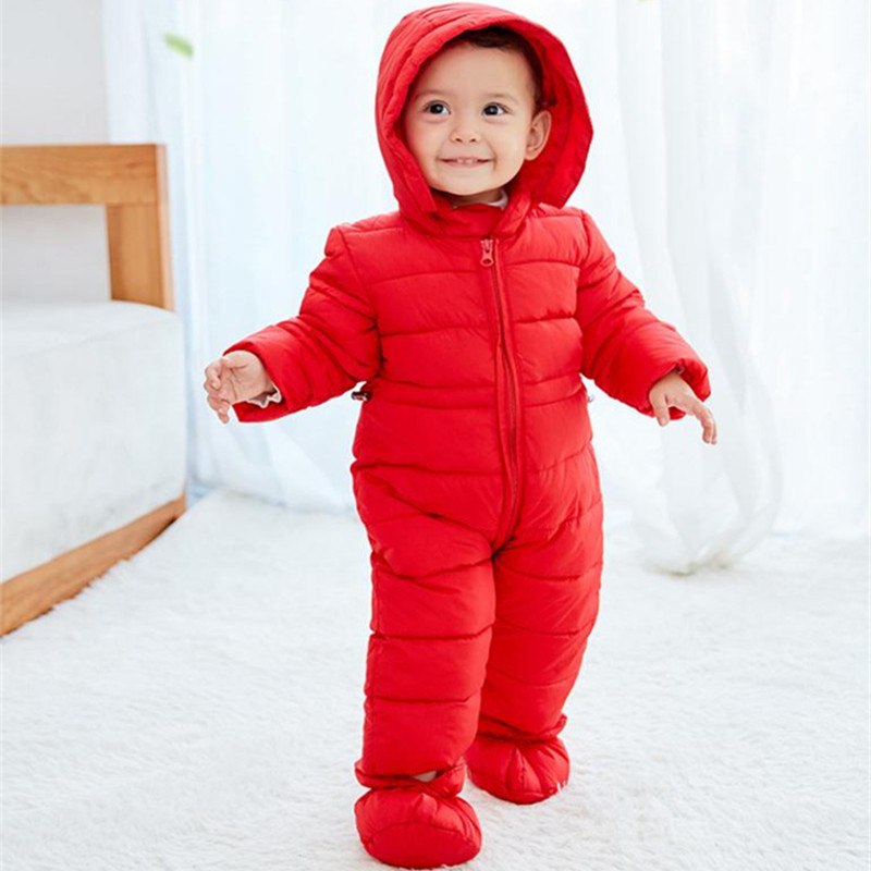 Baby Snowsuit Infant Romper Snow Wear Cotton Padded One Piece Winter Warm Outerwear Toddler Overalls Kids Jumpsuit Newborn Parka коврик в багажник novline infiniti g35x седан 2009 полиуретан nlc 76 07 b10