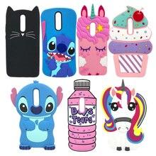 For Huawei Mate 10 Lite Case 3D Cartoon Unicorn Cupcake Cat Silicon Soft Cover Nova 2i / 10lite Phone Back Cases