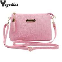 2019 Мини сумка для женщин кисточкой дизайнер сумки Женский через плечо сладкий сплошной цвет сумки с застежкой