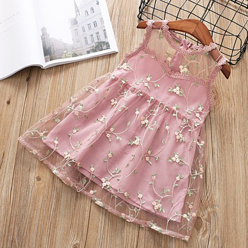 Baby Girls Dress Flower Lace Hollow Princess 2019 Kids Dresses for Girl Princess Summer Girls Party Children Clothing