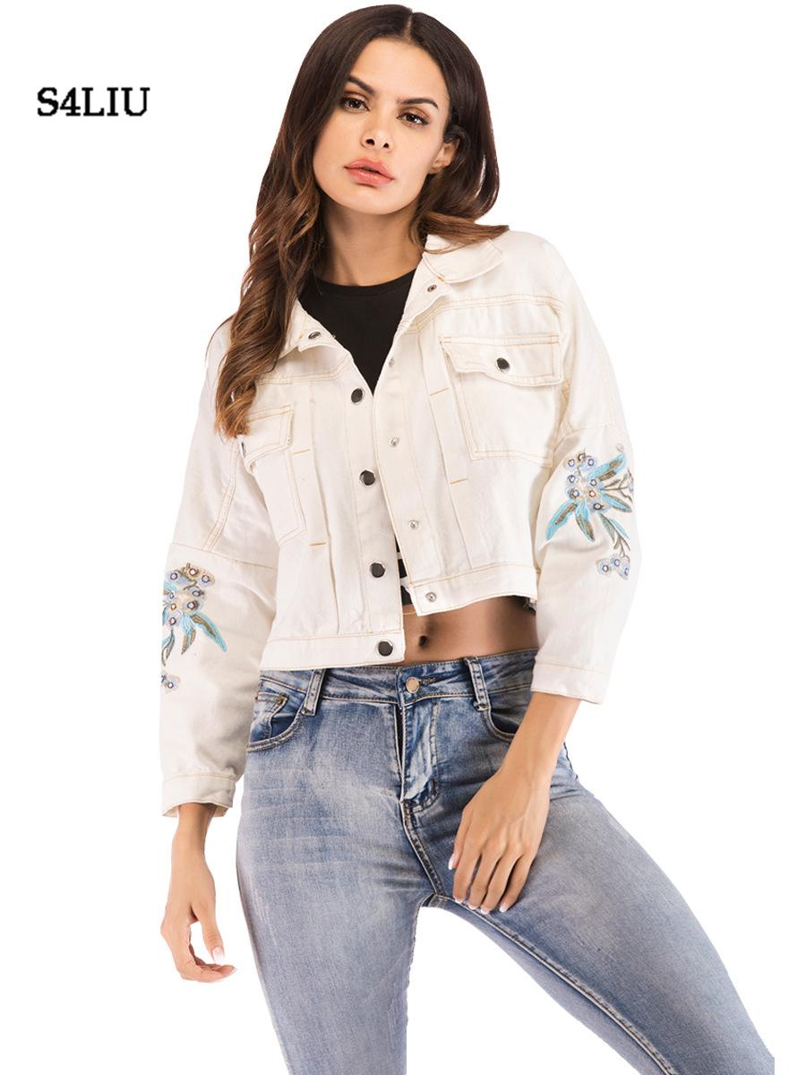 New Women Top Denim Coats Jackets Loose Casual Oversize Outwear BF Style Fashion
